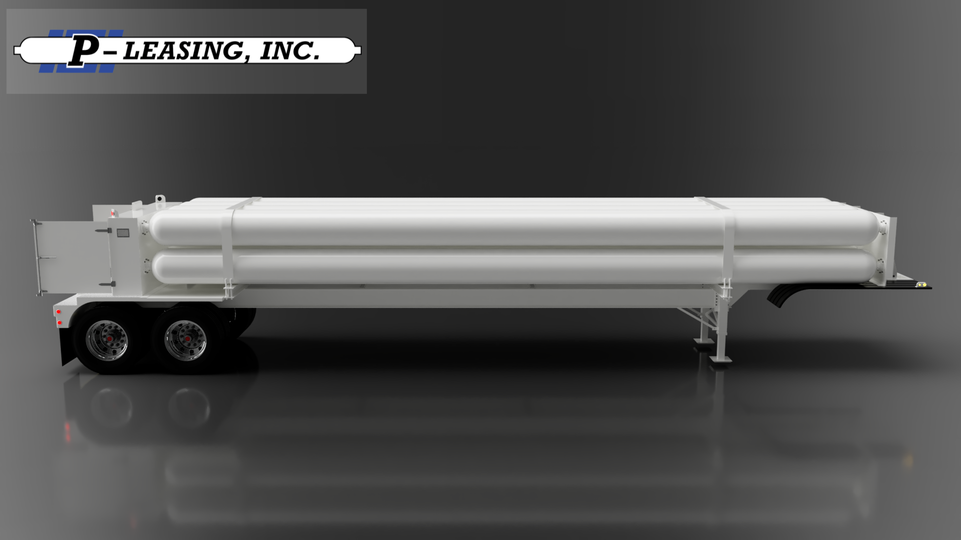 P-Leasing Jumbo Compressed Gas Tube Trailer