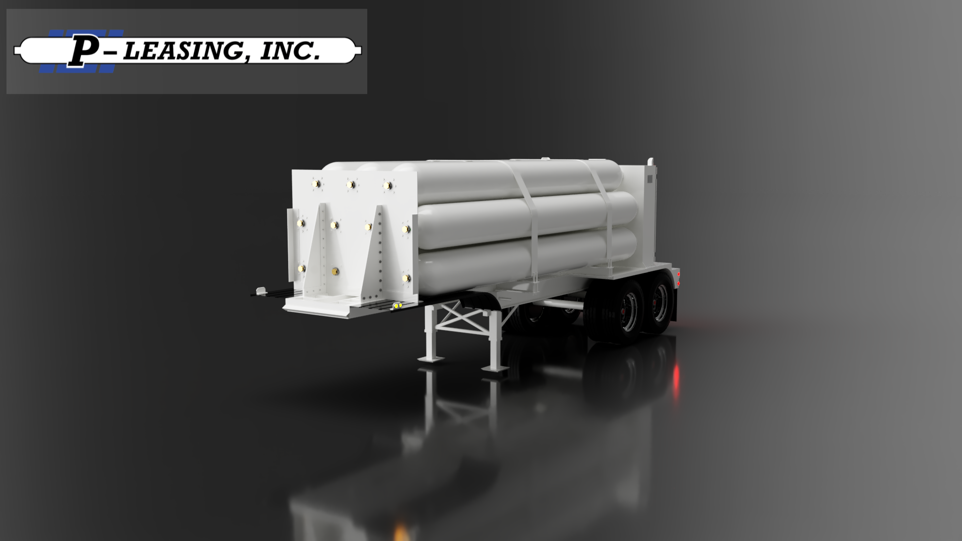 P-Leasing Mini Jumbo Compressed Gas Tube Trailer
